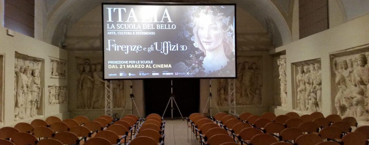 14/03/2016 -Istituto d'Arte di Firenze - Proiezione del documentario 'Firenze e gli Uffizi 3D/4K'