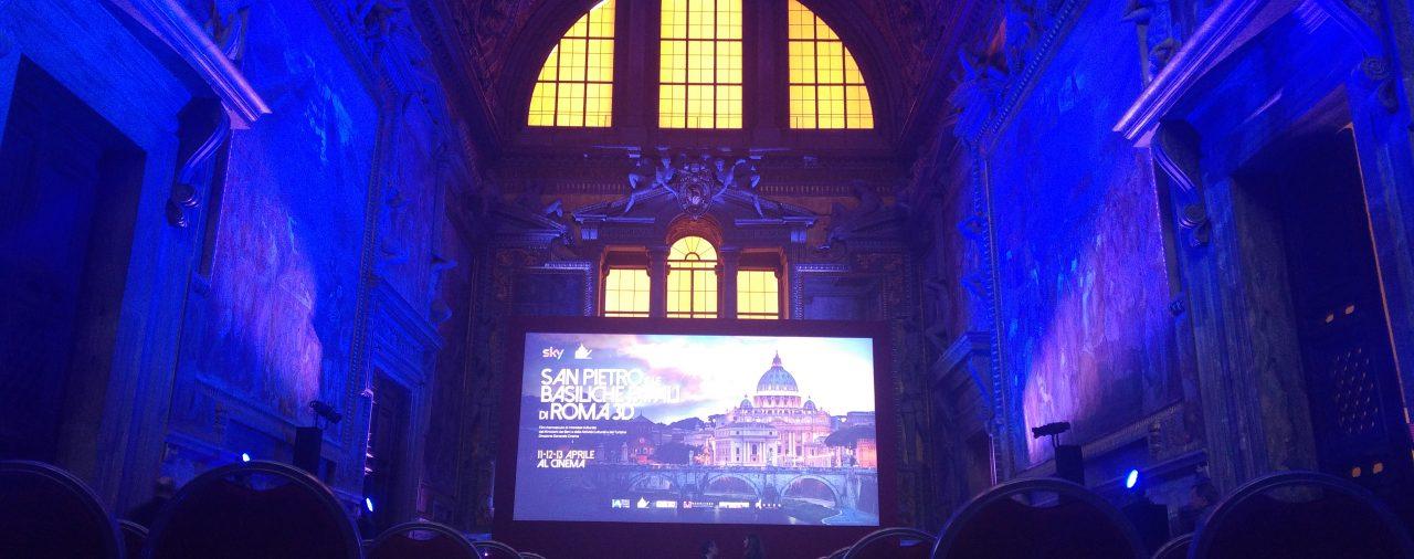 5/4/2016 - Città del Vaticano - Sigra Film per l'Anteprima del documentario in 3D  'San Pietro e le Cappelle Papali'