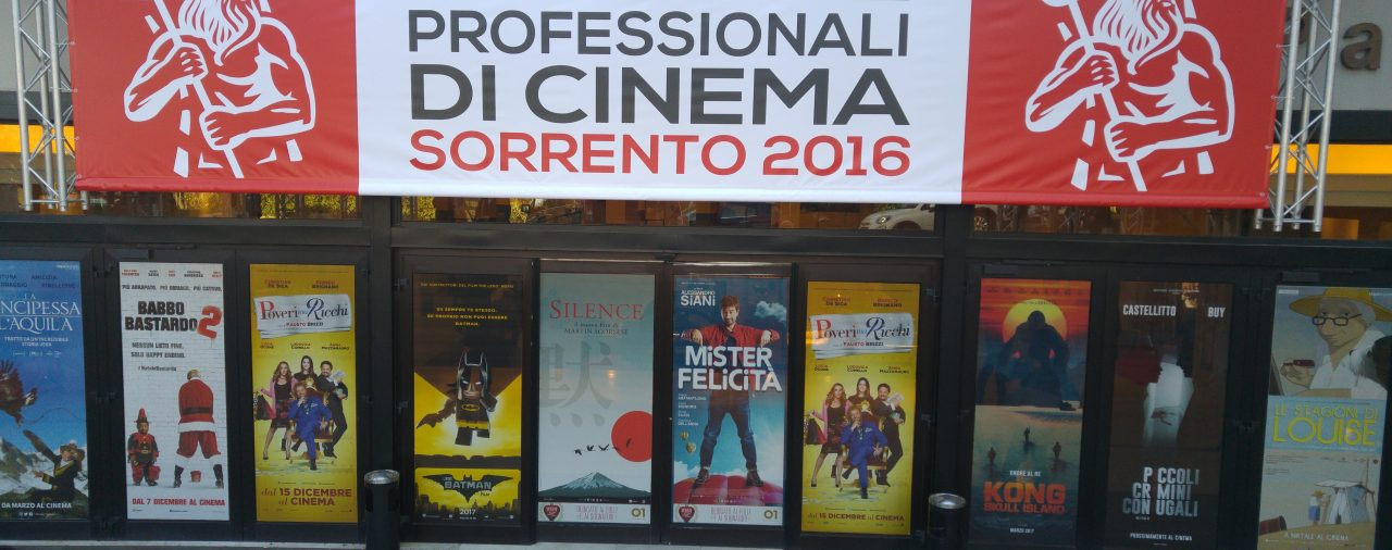 28/11/2016  Giornate Professionali di Cinema 2016– Sorrento –