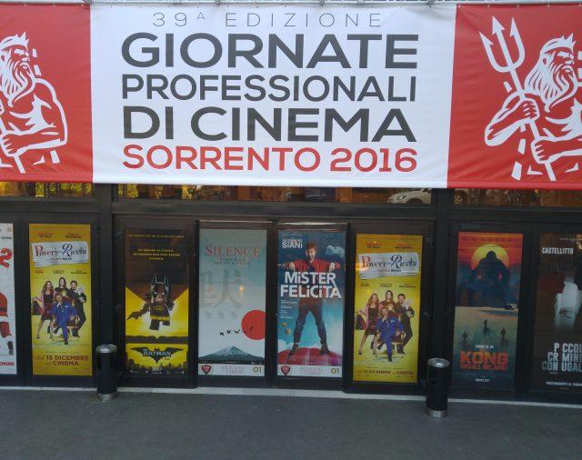 28/11/2016  Giornate Professionali di Cinema 2016– Sorrento –