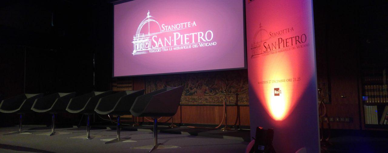 21/12/2016 - Sede Rai Viale Mazzini - Salone degli Arazzi - Presentazione 4K del documentario 'Stanotte a San Pietro'
